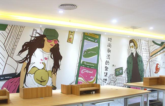手绘文化墙/墙体彩绘_上海广告设计制作公司【分享